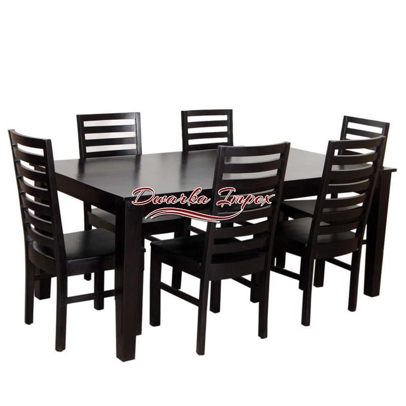 supremely finished wooden dining table set with six chairs - Wooden Dining Table With Chairs